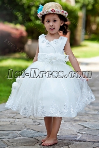 Ostrich Feather Luxury Flower Girl Dress Ball Gown