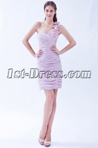 Pretty One Shoulder Lavender High School Graduation Dress