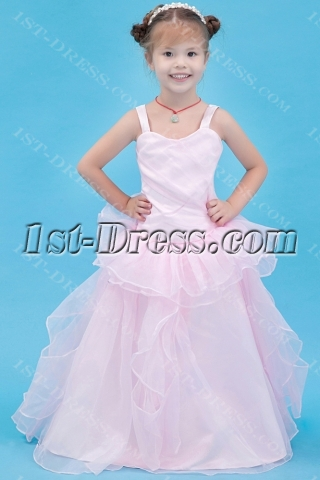 Pretty Pink Mini Bridal Gown for Girls