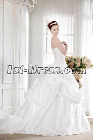 Pretty Taffeta Plus Size Bridal Gown with Corset