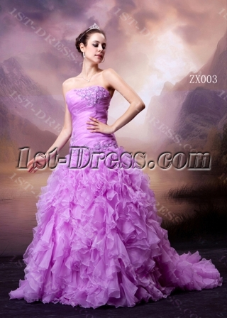 Princess Lilac Sweet 16 Dress with Drop Waist