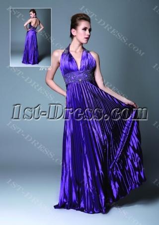 Purple Plunge Graduation Dress for College