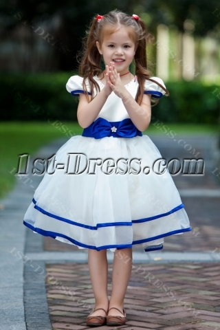 Royal Blue Pretty Flower Girl Dress Discount
