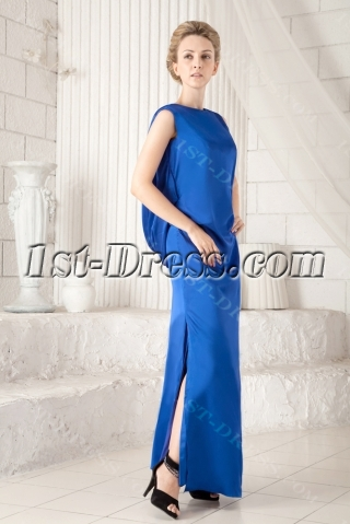 Royal Modest Long Mother of Brides Dress with Low Back
