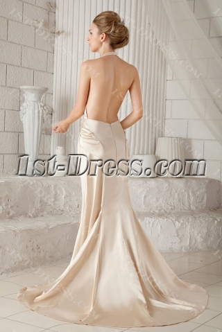Sexy Halter Backless Bridal Gown for Summer