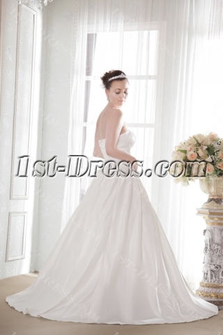 Simple Discount Bridal Gown under 150