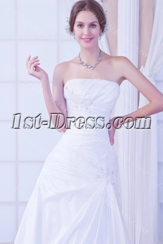 Strapless Elegant Vintage Bridal Dress with Corset