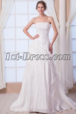 Taffeta Strapless Elegant Bridal Gowns with Corset