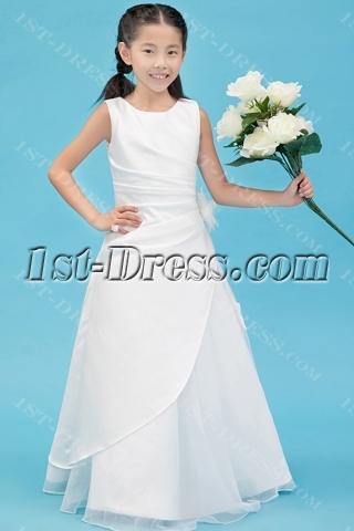 Traditional Ivory Mini Wedding Dress for Flower Girl