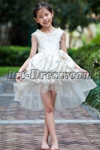 Unique High-low Hem Cheap Flower Girl Dresses