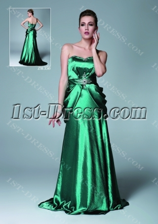 Unique Hunter Green Celebrity Dress Cheap