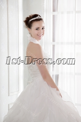 Unique Puffy Halter Plus Size Quinceanera Dress