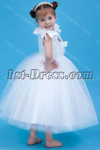V-neckline Classic Ballerina Flower Girl Gowns