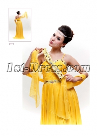 Yellow Beach Prom Dress 2011 for Summer