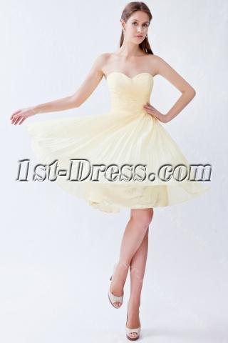 Yellow Chiffon Bridesmaid Dresses under 100 Dollars