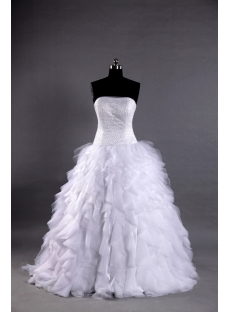 2013 Ball Gown Wedding Dress with Ruffle