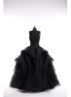 2013 Black Gothic Wedding Dresses Ball Gown
