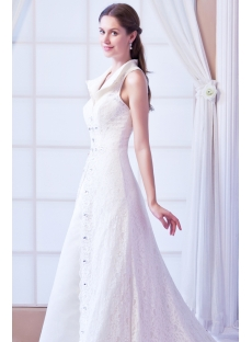 2014 Elegant Lace Princess Wedding Dresses with Keyhole