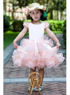 Affordable Pink Flower Girl Dresses Australia with Cap Sleeves