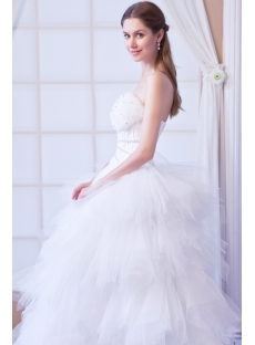 Basque 2013 Wedding Dress Strapless Ball Gown