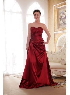 Beautiful Burgundy Evening Dresses for Plus Size