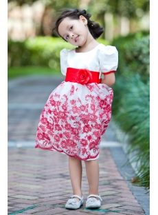 Beautiful Red Modest Flower Girl Dress