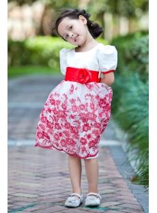 Beautiful Red Modest Flower Girl Dress