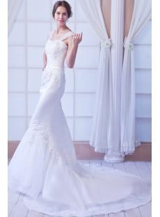Beautiful Sheath Wedding Dress for Petite