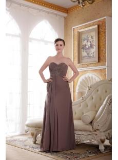 Brown Chiffon Plus Size Bridesmaid Dresses