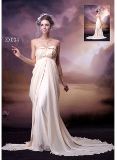 Champagne Column Chiffon 2013 Prom Dress
