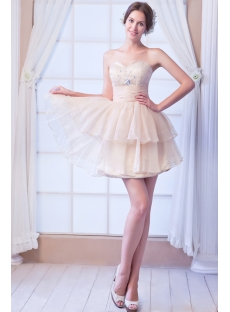 Champagne Short Cocktail Dress with Sweetheart