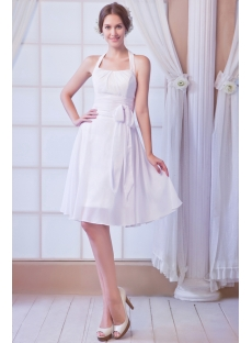 Chiffon Simple Summer Short Bridal Gowns