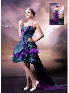 Colorful Fancy Short Quinceanera Dress