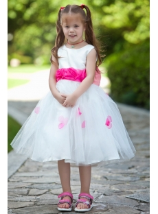Cute Princess Flower Girl Dresses with Hot Pink