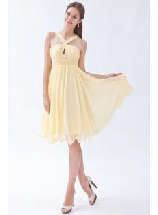Daffodil Cute Junior Prom Dress Short