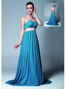 Elegant Blue Long Evening Gown 2013