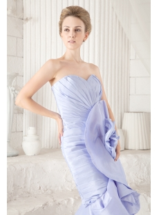 Elegant Lavender High-low Prom Dress with Floral