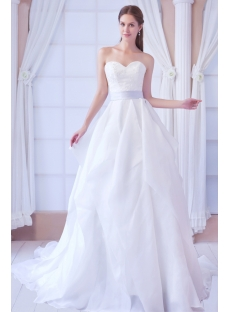 Exclusive Fall Formal 2013 Bridal Gowns with Lavender Sash