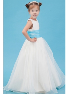 Floor Length Blue New Style Mini Wedding Dress