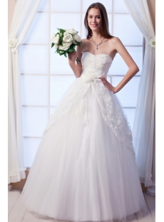 Floor Length Modest 2011 Quince Dress with Strapless