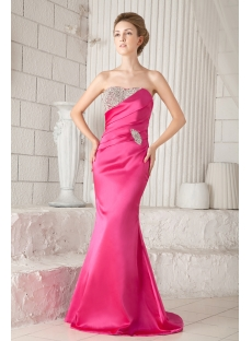 Fuchsia Formal Mermaid Evening Dress with Corset