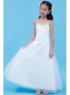 Gorgeous Long Mini Wedding Dress for Kids