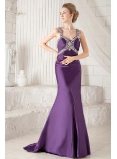 Grape Sheath Sexy Evening Dress with Cross Straps