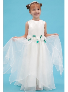 Green Floor Length Wonderful Dress Flower Girl Dresses