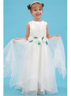 Green Floor Length Wonderful Dress Flower Girl Dresses