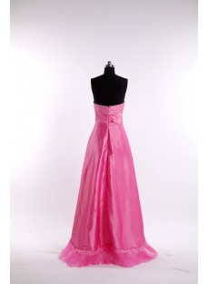 Hot Pink Romantic Cocktail Dress with High-low