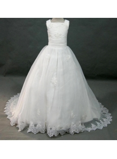 Ivory Mini Bridal Gowns with Train