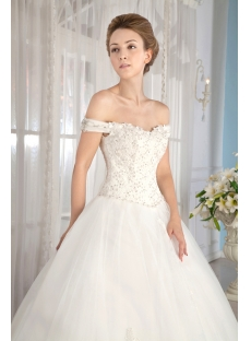 Images 201708 Small Ivory Off Shoulder Cinderella Ball