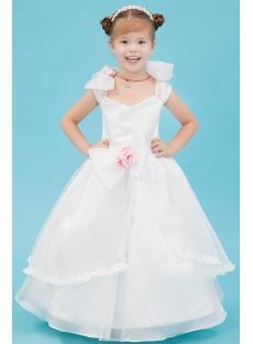 Ivory Princess Toddler Flower Girl Dress
