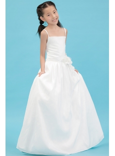 Ivory Straps Simple Formal Mini Wedding Dress